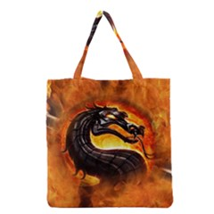 Dragon And Fire Grocery Tote Bag