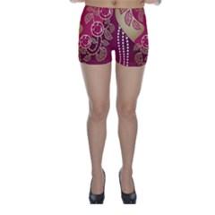 Love Heart Skinny Shorts
