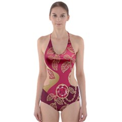 Love Heart Cut-Out One Piece Swimsuit