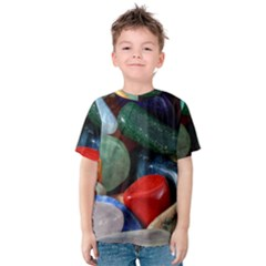 Stones Colors Pattern Pebbles Macro Rocks Kids  Cotton Tee