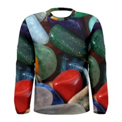 Stones Colors Pattern Pebbles Macro Rocks Men s Long Sleeve Tee
