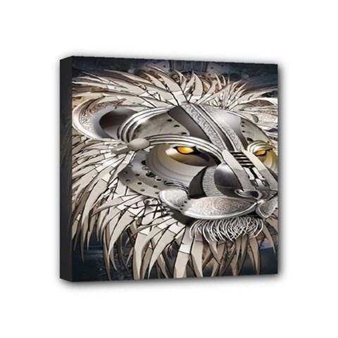 Lion Robot Mini Canvas 4  x 4