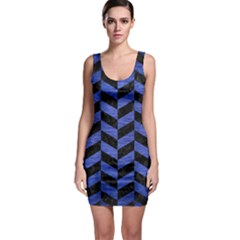 CHV1 BK-MRBL BL-BRSH Sleeveless Bodycon Dress
