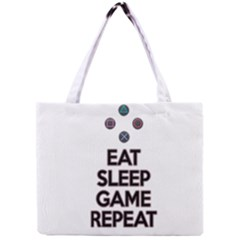 Eat sleep game repeat Mini Tote Bag