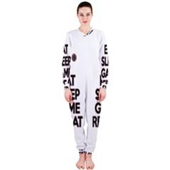 Eat sleep game repeat OnePiece Jumpsuit (Ladies)