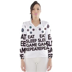 Eat sleep game repeat Wind Breaker (Women)