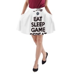 Eat sleep game repeat A-Line Pocket Skirt