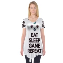 Eat Sleep Game Repeat Short Sleeve Tunic