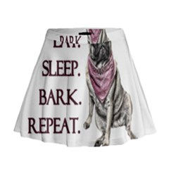 Eat, sleep, bark, repeat pug Mini Flare Skirt
