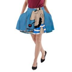 Sailor A-Line Pocket Skirt