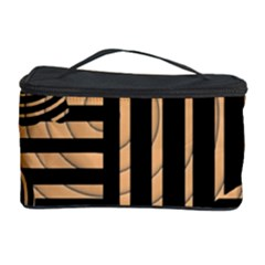 Wooden Pause Play Paws Abstract Oparton Line Roulette Spin Cosmetic Storage Case