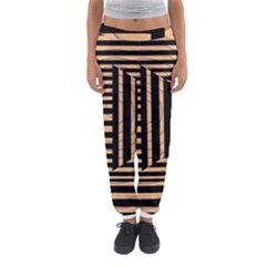 Wooden Pause Play Paws Abstract Oparton Line Roulette Spin Women s Jogger Sweatpants