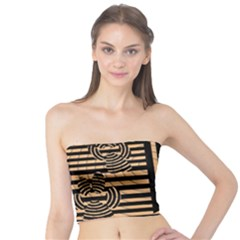 Wooden Pause Play Paws Abstract Oparton Line Roulette Spin Tube Top