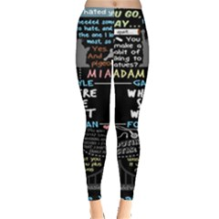 Book Quote Collage Leggings