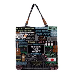 Book Quote Collage Grocery Tote Bag