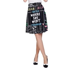 Book Quote Collage A-Line Skirt
