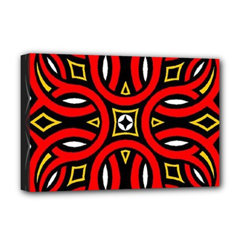 Traditional Art Pattern Deluxe Canvas 18  x 12