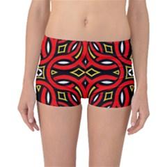 Traditional Art Pattern Boyleg Bikini Bottoms