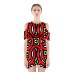 Traditional Art Pattern Shoulder Cutout One Piece
