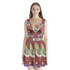 Easter Split Back Mini Dress