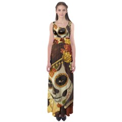 Fantasy Girl Art Empire Waist Maxi Dress