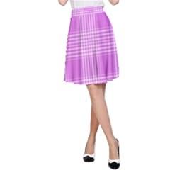 Seamless Tartan Pattern A-Line Skirt