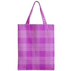Seamless Tartan Pattern Zipper Classic Tote Bag