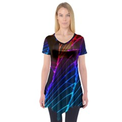 Cracked Out Broken Glass Short Sleeve Tunic
