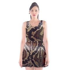 Snake Skin Olay Scoop Neck Skater Dress