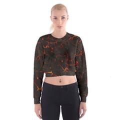 Volcanic Textures Cropped Sweatshirt