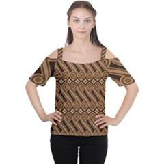 Batik The Traditional Fabric Women s Cutout Shoulder Tee