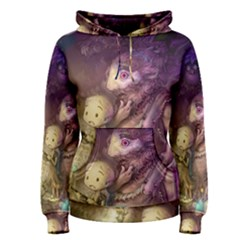 Cartoons Video Games Multicolor Women s Pullover Hoodie