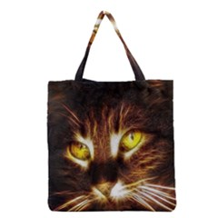 Cat Face Grocery Tote Bag
