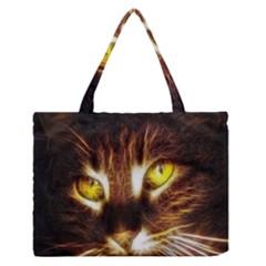 Cat Face Medium Zipper Tote Bag