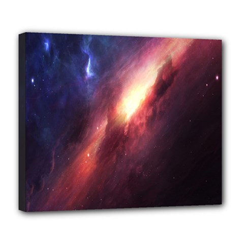 Digital Space Universe Deluxe Canvas 24  x 20