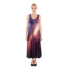 Digital Space Universe Sleeveless Maxi Dress