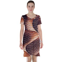 Snake Python Skin Pattern Short Sleeve Nightdress