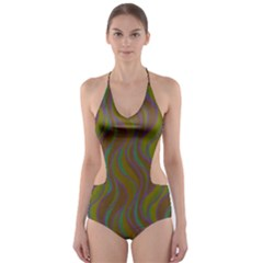 Pattern Cut-Out One Piece Swimsuit