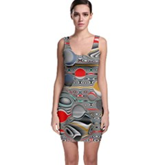 Changing Forms Abstract Sleeveless Bodycon Dress