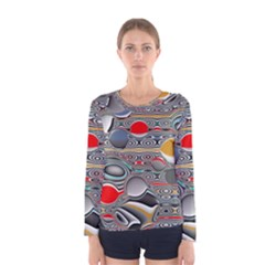 Changing Forms Abstract Women s Long Sleeve Tee