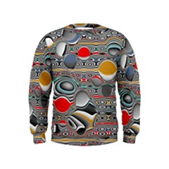 Changing Forms Abstract Kids  Sweatshirt