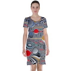 Changing Forms Abstract Short Sleeve Nightdress