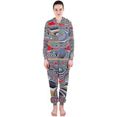 Changing Forms Abstract Hooded Jumpsuit (Ladies)