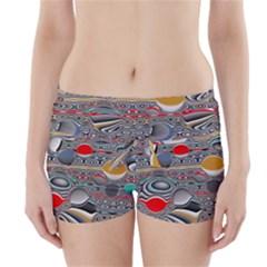 Changing Forms Abstract Boyleg Bikini Wrap Bottoms
