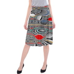 Changing Forms Abstract Midi Beach Skirt