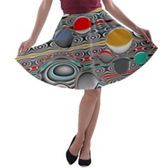 Changing Forms Abstract A Line Skater Skirt