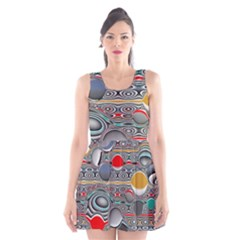 Changing Forms Abstract Scoop Neck Skater Dress