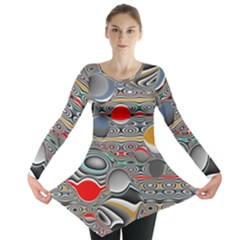 Changing Forms Abstract Long Sleeve Tunic