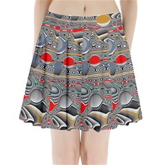 Changing Forms Abstract Pleated Mini Skirt