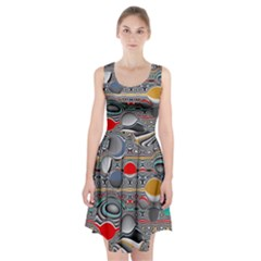Changing Forms Abstract Racerback Midi Dress